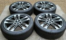 "AUDI SQ5 OEM FACTORY GENUINE SPEEDLINE 21"" BLACK MACHINED WHEEL TIRE & CAPS SET main photo"