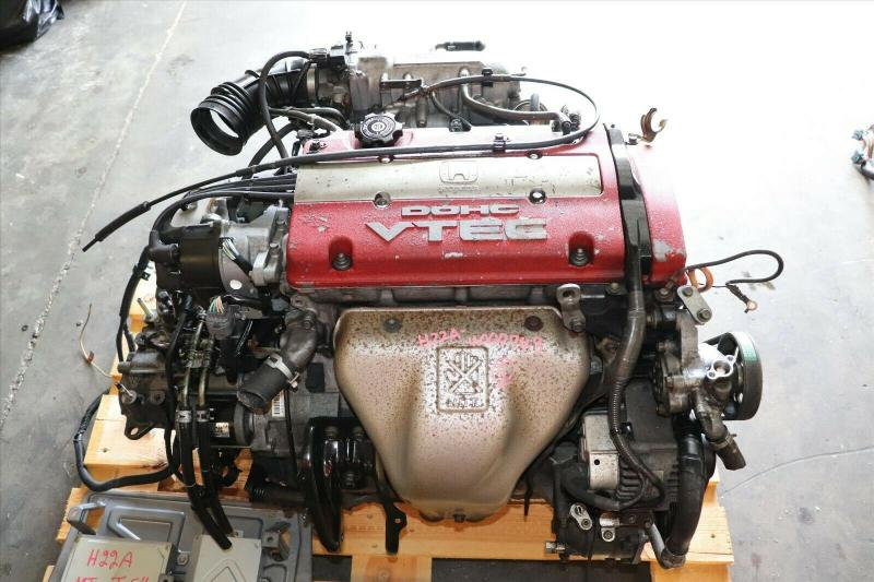 JDM Honda Prelude Type SH 2.2L DOHC VTEC H22A RED TOP Engine M2U4 TRANS ATTS 5MT main photo