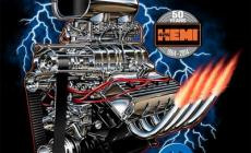 Mopar Blown Hemi Motor Tee Shirt Is Chrome Header Hot main photo