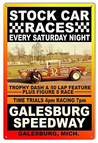 Galesburg Speedway Metal Sign (Reproduction)