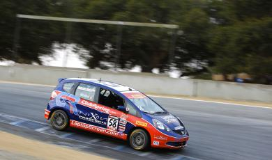 Glenn Nixon scores 2nd in Pirelli World Challenge TCB Drivers Championship in Racing.ca sponsored Honda Fit! main photo